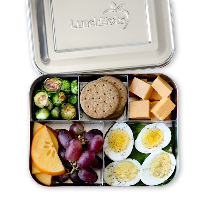 d810108f3db5 LunchBots Cinco Stainless Steel 5 Compartment Bento Box