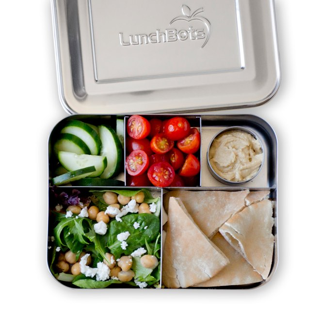 LunchBots Bento Cinco Stainless Steel 5 Compartment Lunch Container