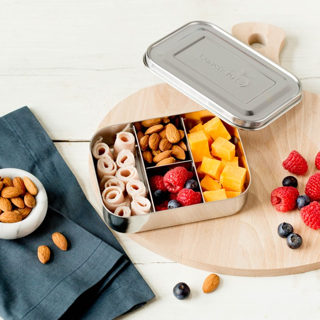 LunchBots Protein Packer Stainless Steel Snack Container